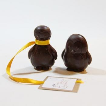 Pingouins noirs - chocolat noir incrusté de surprises