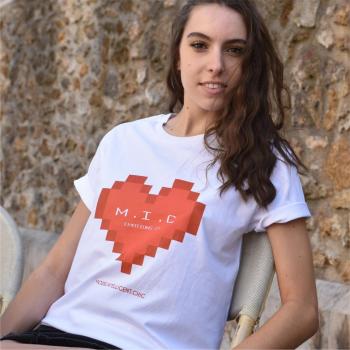 micorganic tee shirt femme Emotions Pixel 100% coton biologique