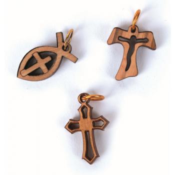 S/3 pendentifs corde coton