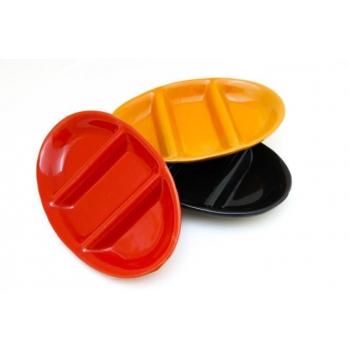 Plat ovale composé en céramique
