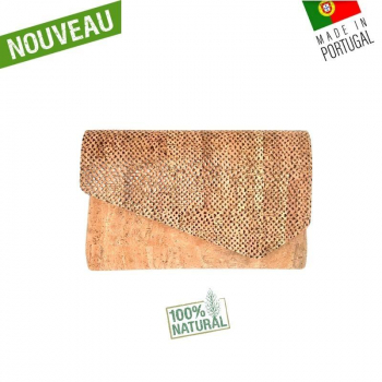"Pochette à main en liège naturel ""Bella jungle"""