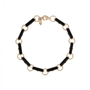Bracelet ambre sur argent rhodié.