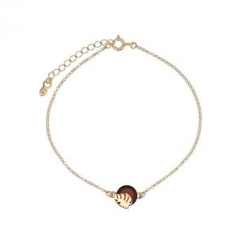 Bracelet ambre et vermeil.