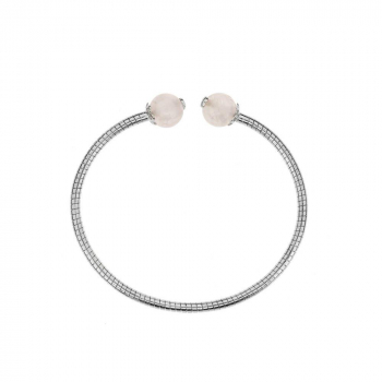 Bracelet quartz rose sur argent 925.