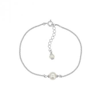 Bracelet perle sur argent rhodié.