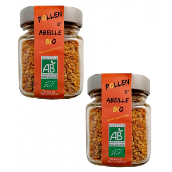2 Pièces Pollen d'Abeille Bio Le Monopati 125g/pièce