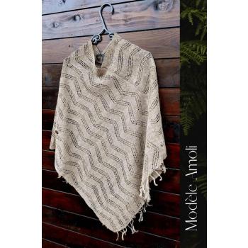 Pochon en fibre d'ortie tricoté main