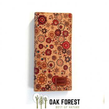 Porte-cartes XL en liège naturel - Pochette Vegan en liège FLOWER
