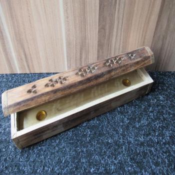Porte encens coffret bois grand modèle