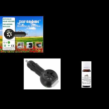 Coffret diffuseur voiture + huile essentielle de Lavandin super Bio