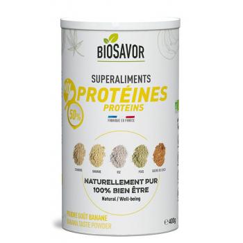 Mix de protéines Bio - Saveur Banane - 400g