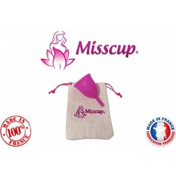cup menstruelle MISSCUP® rose petite taille fabrication 100% française avec pochette et notice offerte ...