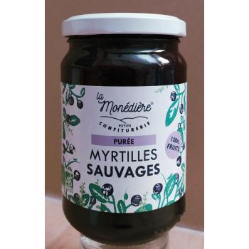 Purée 100% Myrtille sauvage La Monédière 280g