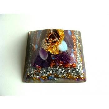 Pyramide petit modèle opale/améthyste