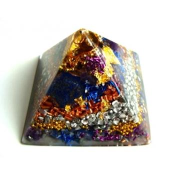 Pyramide petit modèle lapis/améthyste