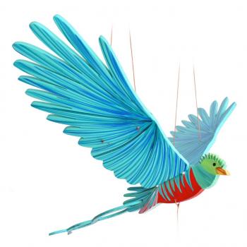 Mobile artisanal Quetzal issu du commerce équitable