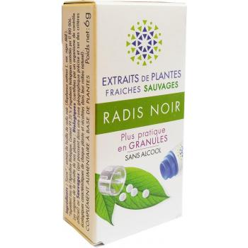 RADIS NOIR Teinture Mère  d'extaits de plantes fraiches granules  Sans Alcool 130 granulesConfort digestif- Aide à drainer le foie