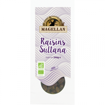 Raisins Sultana BIO 250g - sachet vrac Magellan