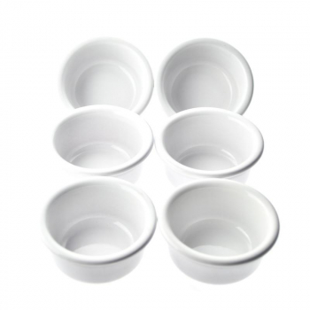 Set 6 ramequins blanc