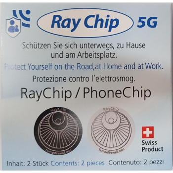 Ray Guard anti-4&5G - Ensemble de 2 puces