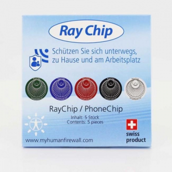 Ray Guard anti-4G - Ensemble de 5 puces