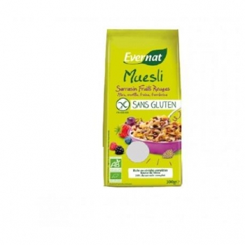 Muesli Sarrasin Fruits Rouges Sans Gluten 300g-Evernat