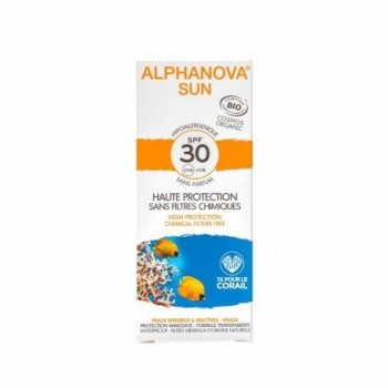 Crème Solaire Bio Hypoallergénique SPF 30 - 50g - Alphanova Sun