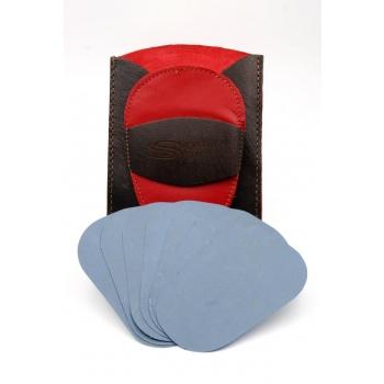Gant d'exfoliation et d'épilation Kit Bicolore Rouge/Marron
