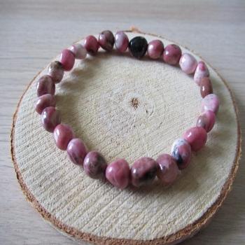 Bracelet en pierre de Rhodonite