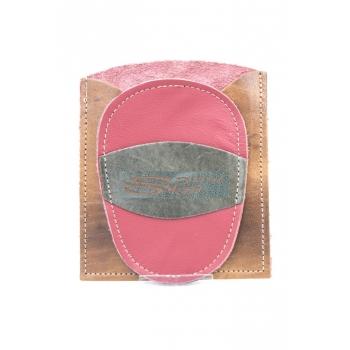 Gant d'exfoliation et d'épilation Fushia/Marron