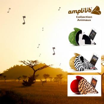 AMPLILIB l'enceinte écologique – Made in France- Pack Animaux (3 Amplilib)