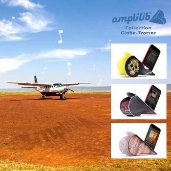 AMPLILIB l'enceinte écologique – Made in France- Pack Globe Trotteur (3 Amplilib)