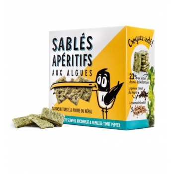 Sablés Apéritifs aux Algues Alimentaires, sarrasin toasté et poivre de Timut - 80gr