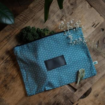 sac congélation lavable bleu