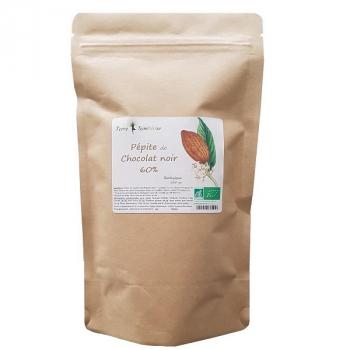 Pépites chocolat noir 60% Biologique 300 g bio - dégustation, cuisine, équitable