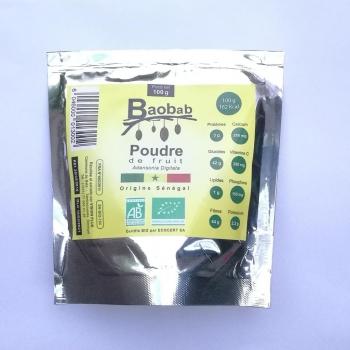 Baobab bio poudre de fruit - 100 g