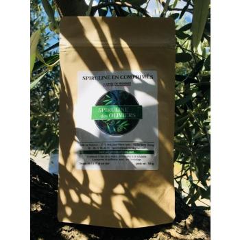 Spiruline des Oliviers, en comprimés, cultivée en Provence, 100gr