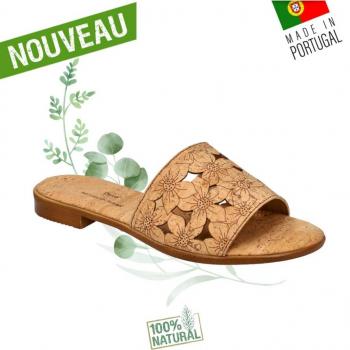 Sandales en liège Flower - Claquettes en liège naturel