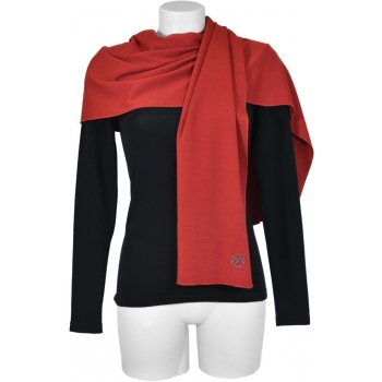 Echarpe Unisexe pure laine Merinos COOLMAN rouge