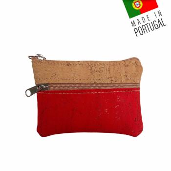 """Porte Monnaie Liège """"Amazon"""" Rouge"""