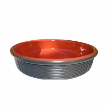Plat four rond céramique Cerise 28 cm