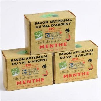 3 Savons À  La Menthe 140G