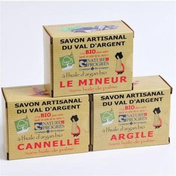 L'alsacien 3 savons 140G Cannelle Argile  Mineur