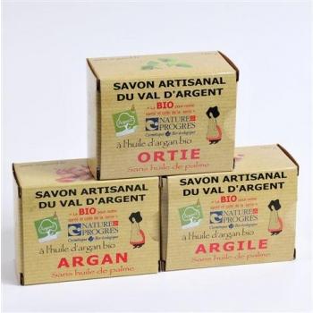L'efficace 3 savons 140G Ortie Argile Argan