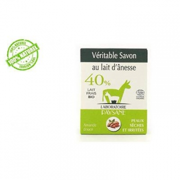 Savon au lait d'ânesse 40 % à l'amande douce bio