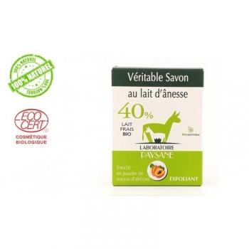 Savon au lait d'ânesse 40 % pétales de rose et huile d'argan 100g
