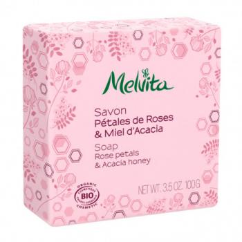 savon-bio-petales-de-roses-miel-dacacia-melvita