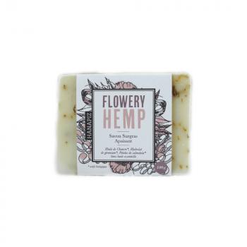 "Savon surgras au chanvre et sans huile essentielle - ""Flowery hemp"""