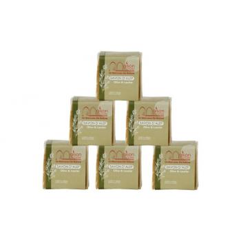 Lot 6 savons D'Alep 200 gr 3% huile de Baies de Laurier, pour acné