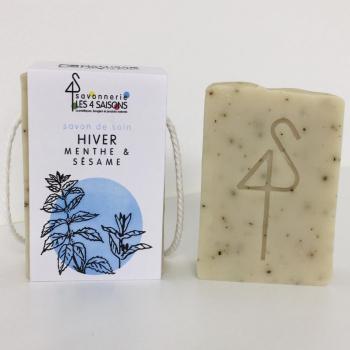 Savon naturel et artisanal - Hiver - Menthe et Sésame